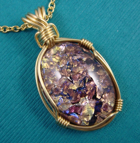 Items Similar To Opal Ring Exquisite Braided Opal: Items Similar To Amethyst Fire Opal Necklace On Etsy