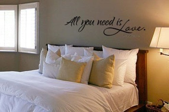 All You Need is Love Vinyl Wall Art