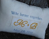 Custom made Sweetheart Pillow- Perfect Wedding or Anniversary Gift