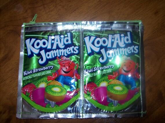 Kiwi Strawberry green Kool Aid zipper pouch