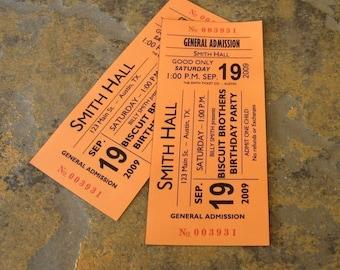 Concert Ticket Party Invitation- Digital