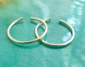 Thin Gold-filled Toe Rings - Set of Two
