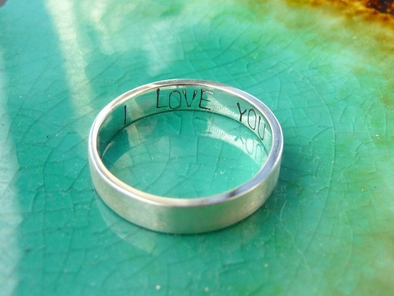 promise ring in silver i you secret message by