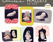 INSTANT DOWNLOAD - Emilee Wallets - Templates for Photographers - Wallet Size Photo Templates