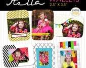 INSTANT DOWLOAD - Stella Wallets -Wallet Size Photo Templates - Newborn, Chidlren, Seniors, Family Photographer