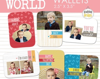 Valentine Wallets - Templates for Photographers- Valentines Day - INSTANT DOWNLOAD