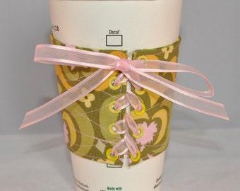Reusable Java Sleeve, Mug Hugger Coffee Cozy, Mug Cozy