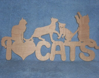 I love cats wall hanging