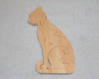 sitting cat puzzle
