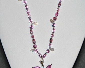 Dragonfly in Glass Necklace