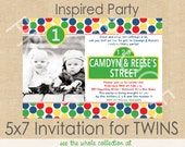 Sesame Street Inspired Digital Invitation for TWINS for the Coolest Kids on the Block