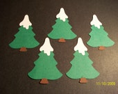 Snow capped trees- set of 5
