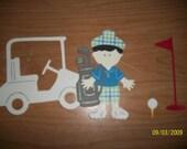 Golfer paper doll diecut