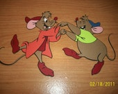 Jaq and Gus die cut from cinderella