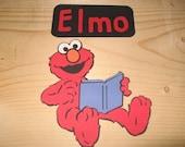 Sesame Street 5 inch Elmo reading a book diecut and title-cricut