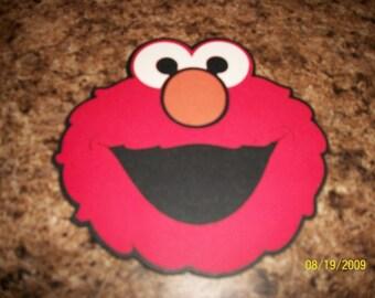 Elmo head diecut- cricut