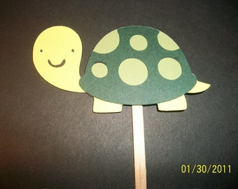 Turtle cupcake toppers- set of 12