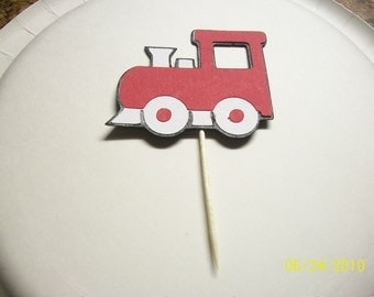 train cupcake toppers- set of 36