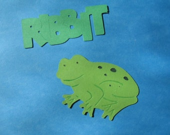 frog diecut and saying