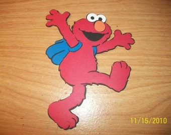 Elmo and his backpack die cut