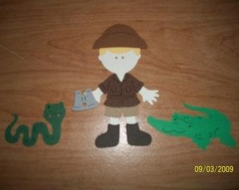 Crocodile Hunter paper doll diecut- cricut
