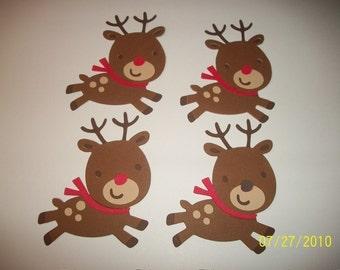 Lot of 4 reindeer  diecuts
