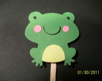 Frog cupcake toppers -set of 12