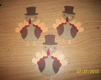 lot of 3 turkey diecuts