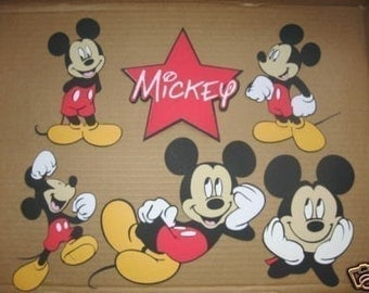Mickey Mouse set of 5  and 1 Star title-cricut