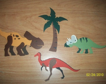 set of 3 dinosaur diecuts-C