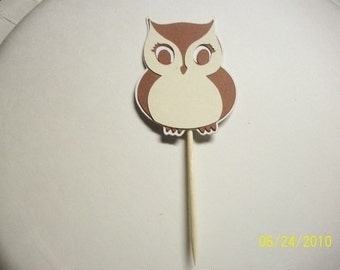owl cupcake toppers set of 12