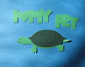 turtle diecut with saying