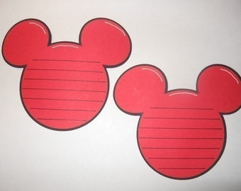 Mickey Head Journaling Tags-cricut- set of 4