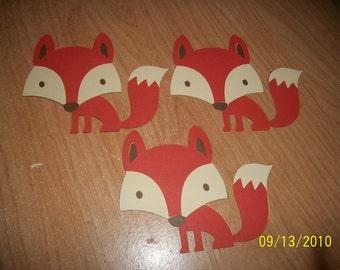 fox die cuts- lot of 3