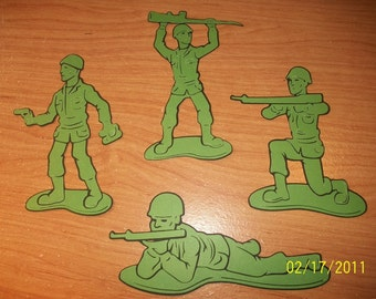 army men die cuts- set of 4- toy story