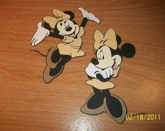 Safari minnie's die cuts -set of 2