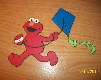 Elmo flying a kite die cut