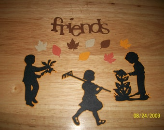 Friends shadow diecut- 12 pieces- cricut