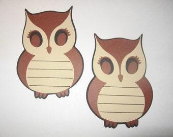 Set of 4 Owl Journaling Tags-cricut