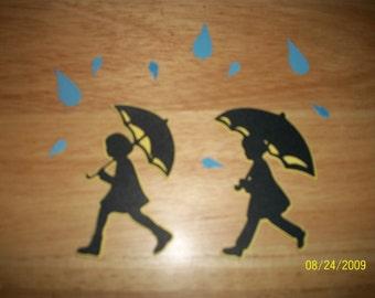 Walking in the rain shadow diecuts- 11 pieces- cricut