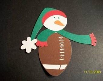 Football snowman die cut