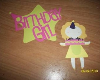 Birthday Girl paper doll and title