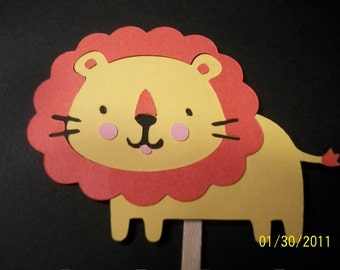 Lion cupcake toppers- set of 24