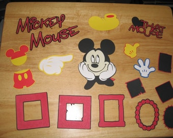 Mickey Mouse Head, titles, icons, and frame diecuts-cricut