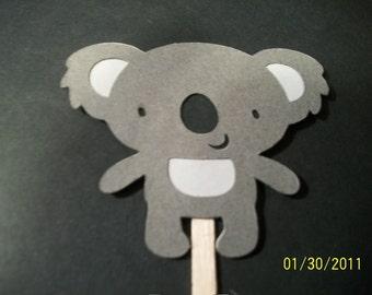 Koala bear cupcake toppers- set of 12