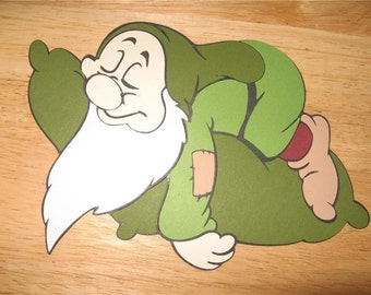 Sleepy diecut- 5 1/2 inches tall- cricut- dwarf