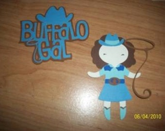Buffalo Gal paper doll and title