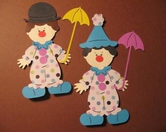 Clown Paper Doll diecuts- 4 inches tall-cricut