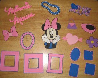 Minnie Mouse Head, titles, icons, and frame diecuts