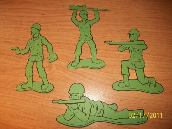 army men die cuts- set of 4- toy story